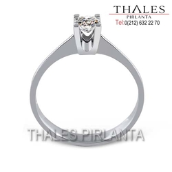 Thales Pırlanta - 0,30 Ct Gia Diamond D Color VS2 Clarity
